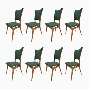 Vintage Italian Chairs, 1960s, Set of 8