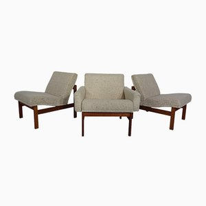 Modular Lounge Chairs by Ole Gjerløv-Knudsen for France & Søn, 1962, Set of 3