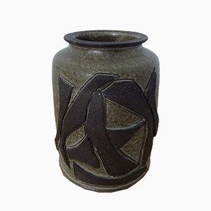 Jarrón danés de cerámica de Birthe Sahl, años 60