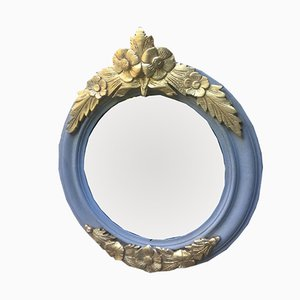 Antique Round Mirrors, Set of 2