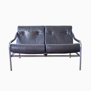 Leather Kadia Sofa by Tim Bates for Pieff, 1970s