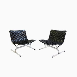 Luar Lounge Chairs by Ross Littell for ICF De Padova, 1960s, Set of 2