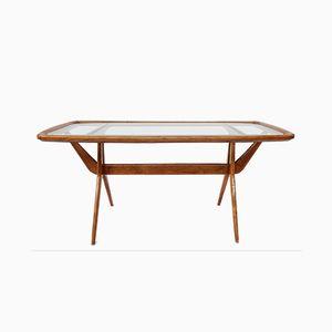 Table Basse Vintage avec Compass Legs, 1960s