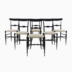 Beistellstühle von Rinaldo Levaggi, 1950er, 6er Set
