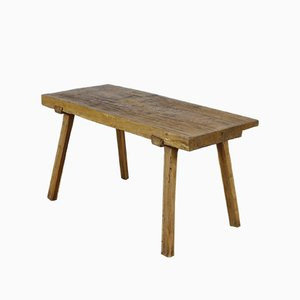 Vintage Oak Butcher's Block Table, 1930s