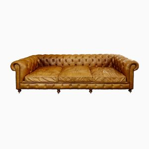 Cognac Leather Chesterfield Sofa, 1970s