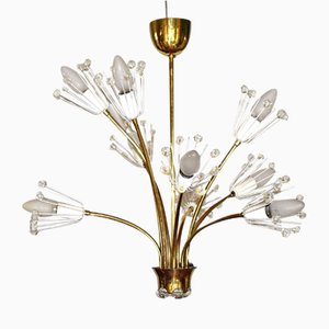 Lampe à Suspension Pyra par Emil Stejnar pour Rupert Nikoll, 1950s