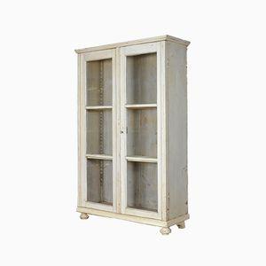 Vintage Pine & Glass Display Cabinet, 1930s