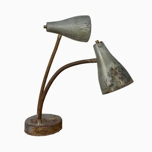 American Double Gooseneck Desk Lamp, 1930s