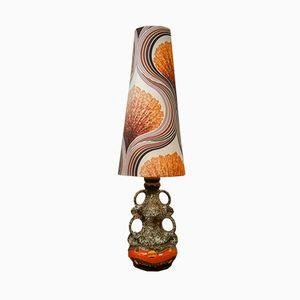 Große westdeutsche Stehlampe aus Keramik, 1970er