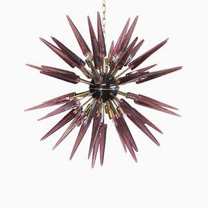 Murano Amethyst Glass Sputnik Chandelier, 1983