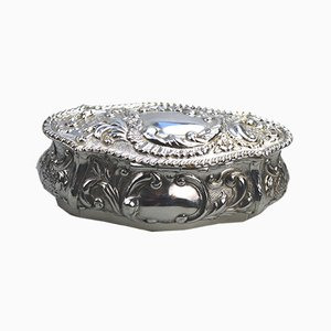 Solid Silver Repoussé Box from Sydney & Co, 1905