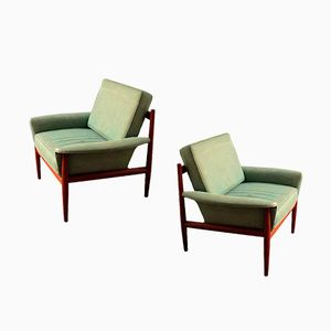 Armchairs by Grete Jalk for France & Søn, 1955, Set of 2