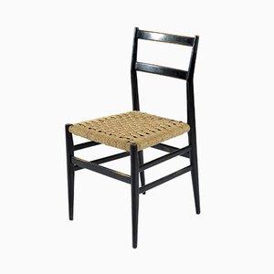 Leggera Sessel aus Esche & gewebtem Kord von Gio Ponti für Cassina, 1950er, 6er Set