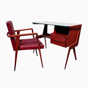 Scrivania con sedia di Studio Dassi per Dassi, anni '50