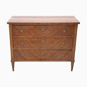 Antique Chest of Drawers in Inlaid Walnut, 1850s