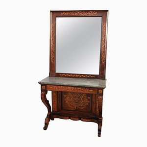 Antique Console in Inlaid Rosewood, 1825