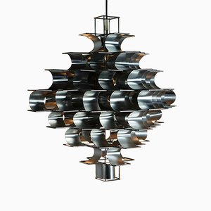 Large Cassiopée Ceiling Lamp by Max Sauze, 1972