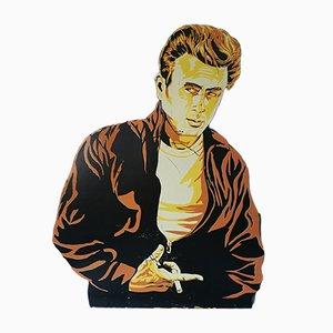 Decorazione da parete in legno raffigurante James Dean, anni '50