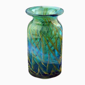 Maltesische Glasvase von Michael Harris für Mdina Glass, 1970er