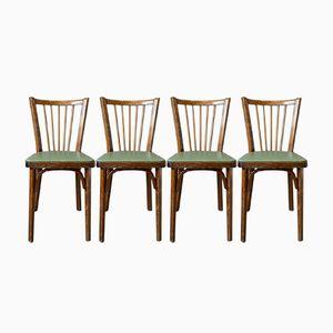 Vintage Stühle von Baumann, 1950er, 4er Set