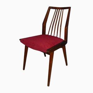 Sillas de comedor rojas de Casala, años 60. Juego de 3