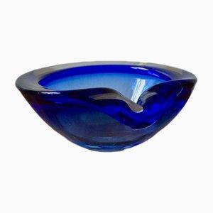 Scodella in vetro di Murano blu, anni '50