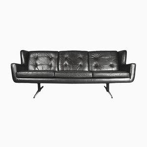 Mid-Century Danish Leather Sofa from Skjold Sørensen, 1960s
