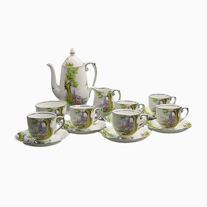 Peacehaven Swan Lake Coffee Set from Roslyn China, 1934