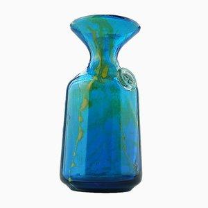 Maltesische Karaffenvase aus Glas von Michael Harris für Mdina Glass, 1970er