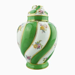 English Porcelain Lidded Vase by George Jones, 1900s