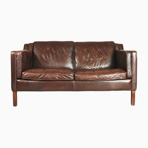 Mid-Century Danish Leather Sofa from Stouby, 1960s