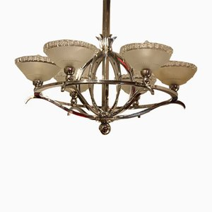 Art Deco Chandelier with Six Lights, 1930s