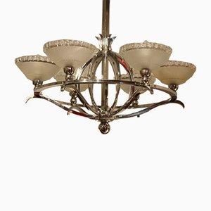 Lámpara de araña Art Déco con seis puntos de luz, años 30