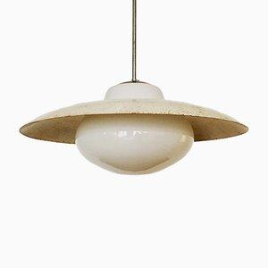 Lampada da soffitto grande di Wilhelm Wagenfeld per Peill & Putzler, anni '50