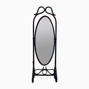 Rattan Standing Mirror, 1970s