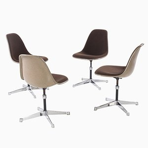Swivel Chairs by Charles & Ray Eames for Herman Miller, 1950s, Set of 4