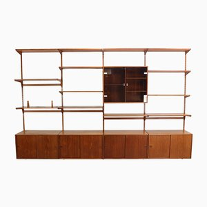 Danish Teak Wall Unit by Kai Kristiansen for FM Møbler, 1960s
