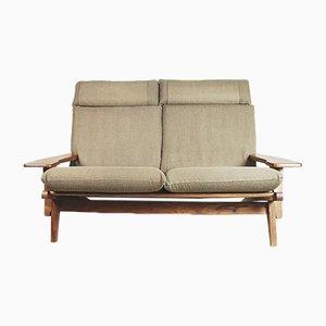 Brasilianisches Mid-Century Sofa mit Kopfleiste, 1960er