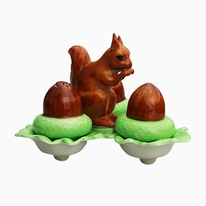 British Squirrel Salt & Pepper Set from Carlton Ware, 1926