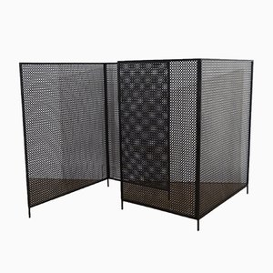 Vintage Perforated Metal Screens, Set of 2