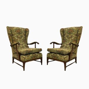 Vintage Italian Lounge Chairs by Paolo Buffa, 1950s, Set of 2