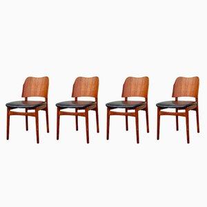 Vintage Esszimmerstühle aus Teak von Bramin, 4er Set