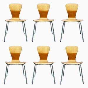 Nikke Esszimmerstühle aus Teak von Tapio Wirkkala für Asko, 1950er, 6er Set