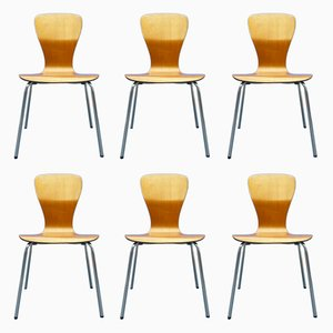 Teak Nikke Dining Chairs by Tapio Wirkkala for Asko, 1950s, Set of 6