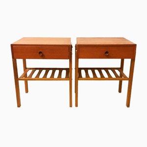 Tables d'Appoint Mid-Century en Teck, 1960s, Set de 2