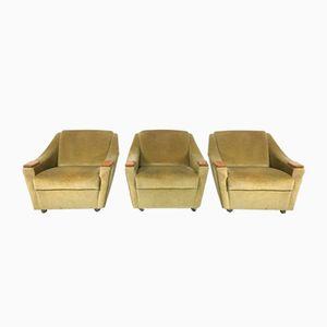 Mid-Century Stühle, 1960er, 3er Set