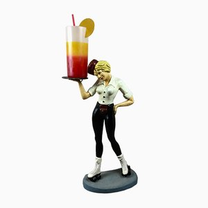 Vintage Waitress on Roller Skates Lampe, 1960er