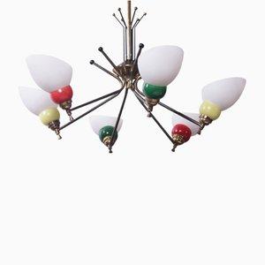 Lámpara de araña vintage, años 60