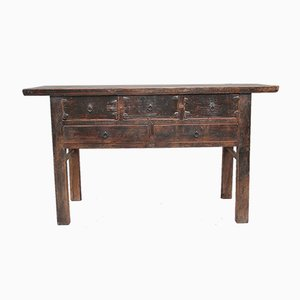 19th-Century Rustic Chinese Sideboard, 1880s